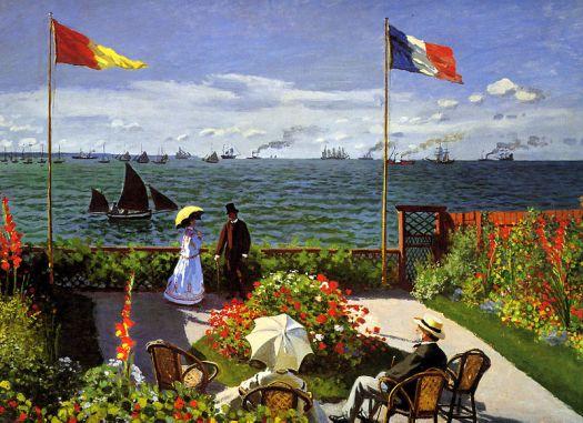 Claude Monet, Jardim em Sainte-Adresse, 1867